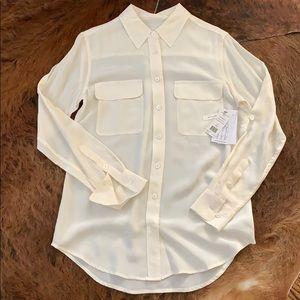 Equipment slim signature silk shirt xs white